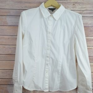 White House Black Market Fitted Button Down Top